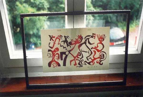 """Serigrafie bei der Ausstellung """"Offenes Atelier"""" im Kunstverein Böblingen"""