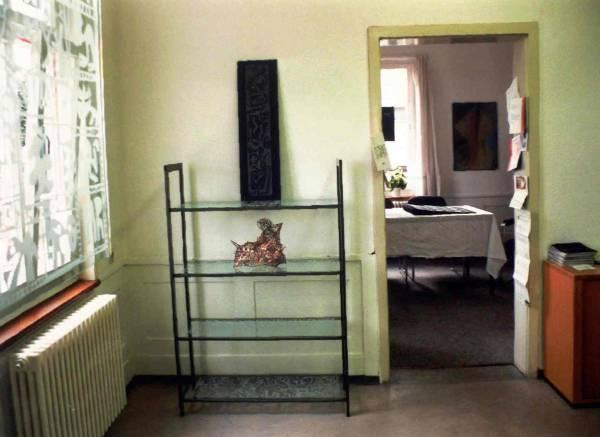"""Werke aus Glas und Draht bei der Ausstellung """"Offenes Atelier"""" im Kunstverein Böblingen"""